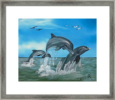 Joyful Trio Framed Print by Darlene Green