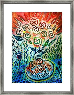 Joyful Wine Framed Print