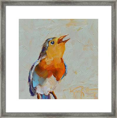 Joyful Song Framed Print
