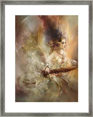 Joyment Framed Print by Te Hu