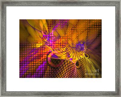 Joyride - Abstract Art Framed Print by Sipo Liimatainen