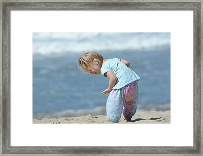 Framed Print featuring the photograph Joys Of Childhood by Fraida Gutovich