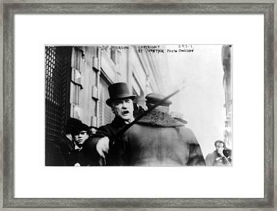 J.p. Morgan Striking Photographer Framed Print by Everett