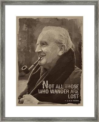 J.r.r. Tolkien Quote Framed Print by Afterdarkness