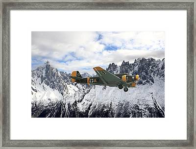 Ju52 - Alpine Passage Framed Print