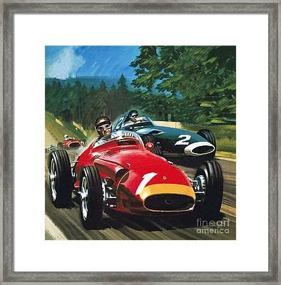Juan Manuel Fangio Framed Print by Wilf Hardy