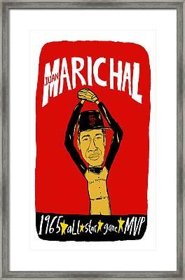 Juan Marichal San Francisco Giants Framed Print by Jay Perkins