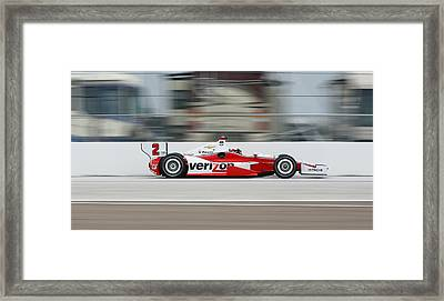 Juan Pablo Montoya Indycar Framed Print