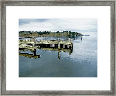 Juanita Bay In Gray Framed Print