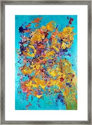 Jubilation Framed Print by Chitra Ramanathan