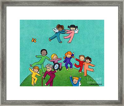 Jubilation Framed Print by Sarah Batalka