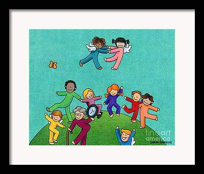 Disability Drawings Framed Prints