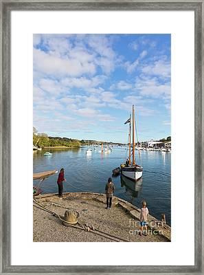 Jubilee Wharf Penryn River  Framed Print