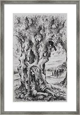 Judas Framed Print by Rachel Christine Nowicki