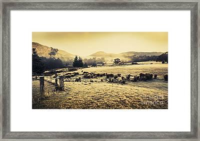 Judbury Winter Panorama Framed Print