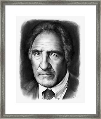 Judd Hirsch Framed Print by Greg Joens