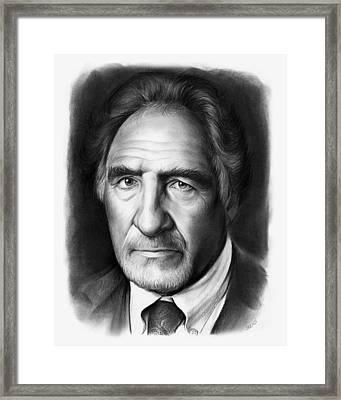 Judd Hirsch Framed Print by Greg Joens