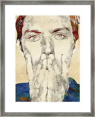 Jude Law Framed Print by Mihaela Pater
