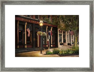 Judge Roy Bean Saloon Framed Print by Robin-Lee Vieira