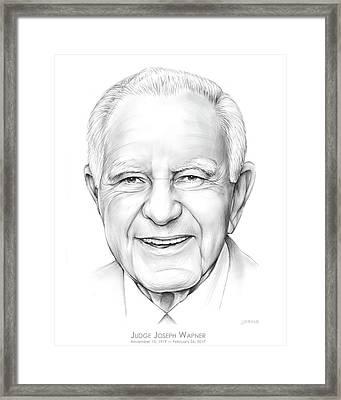 Judge Wapner Framed Print by Greg Joens