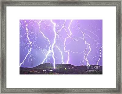 Judgement Day Lightning Framed Print