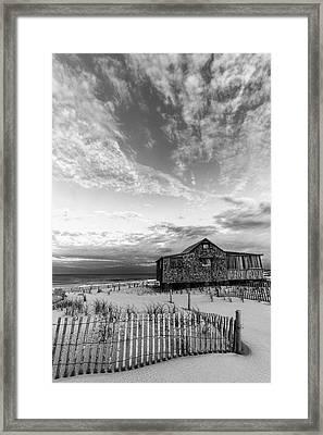 Judges Shack Nj Shore II Bw Framed Print by Susan Candelario