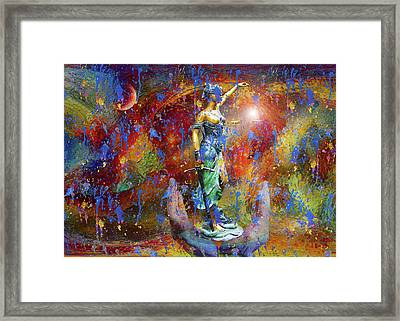 Judgment By Venus Surrealism Framed Print