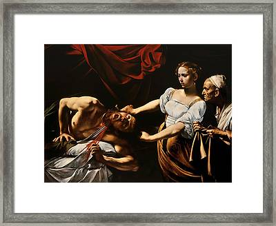 Judith And Holofernes Framed Print by Caravaggio