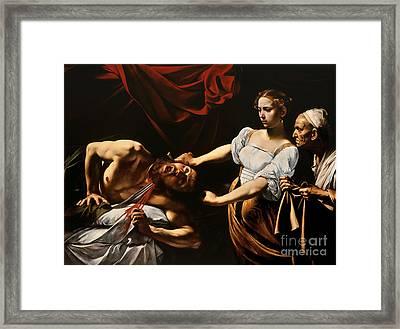Judith And Holofernes Framed Print