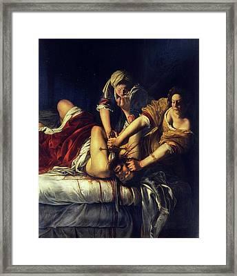 Judith Beheading Holofernes Framed Print