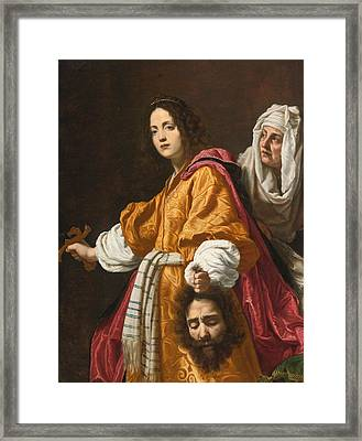 Judith Holding The Head Of Holofernes Framed Print