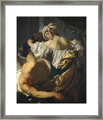 Judith In The Tent Of Holofernes Framed Print
