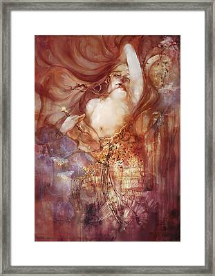 Framed Print featuring the digital art Judith V2 by Te Hu