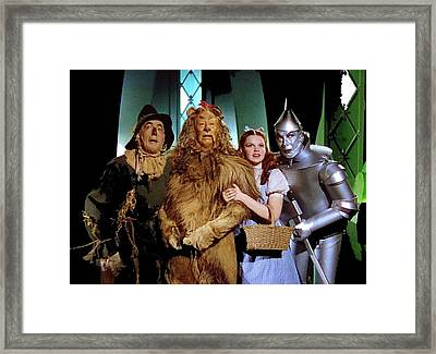Judy Garland And Pals The Wizard Of Oz 1939-2016 Framed Print