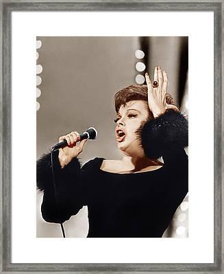 Judy Garland, Ca. 1960s Framed Print by Everett