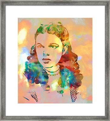 Judy Garland Tribute Framed Print