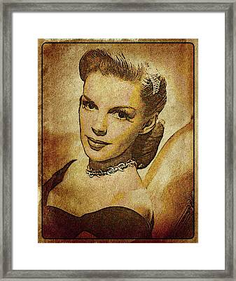 Judy Garland Vintage Hollywood Actress Framed Print by Esoterica Art Agency