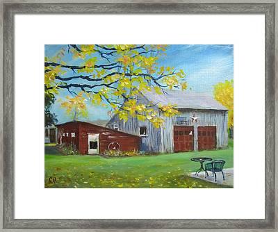 Judy's Barn Framed Print by Carol Hart