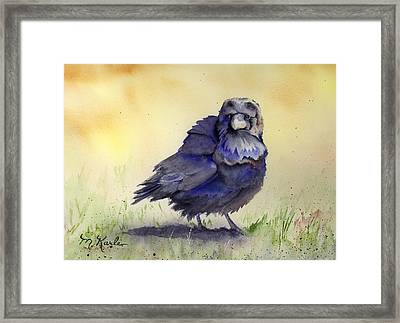 Judy's Raven Framed Print