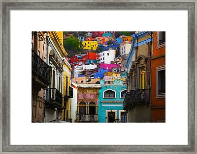 Juegos In Guanajuato Framed Print by Skip Hunt