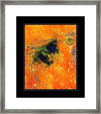 Jug In Black And Orange Framed Print