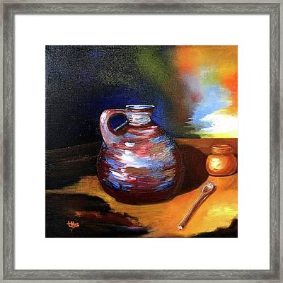 Jug Mug And Spoon Framed Print