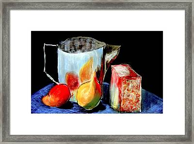 Jug With Fruit Framed Print