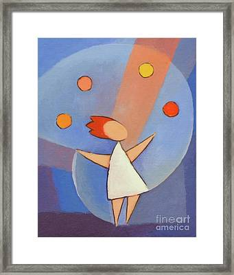 Juggler Framed Print by Lutz Baar