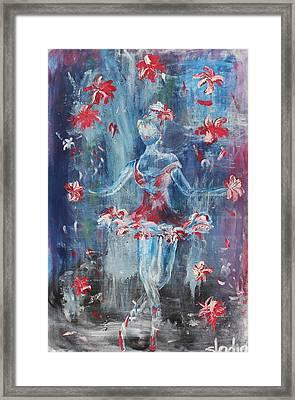 Juggler Framed Print by Sladjana Lazarevic