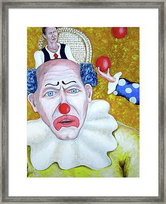 Jugglers And Clowns Framed Print by Don Gentle