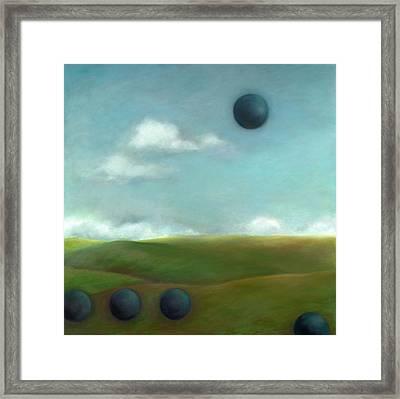 Juggling 2 Framed Print by Katherine DuBose Fuerst