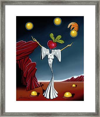Framed Print featuring the painting Juggling Act by Paxton Mobley