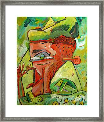 Juggling David And Goliath Framed Print by Charlie Spear