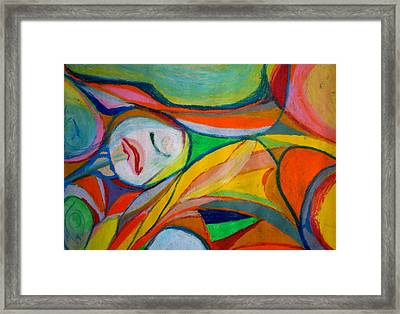 Framed Print featuring the pastel Jugular by Polly Castor
